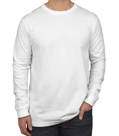 Bella + Canvas Long Sleeve Jersey T-shirt - White