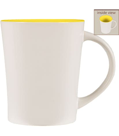 14 oz. Ceramic Two-Tone Citrus Mug - White / Yellow