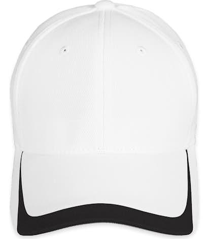 Sport-Tek Pique Contrast Performance Hat - White / Black