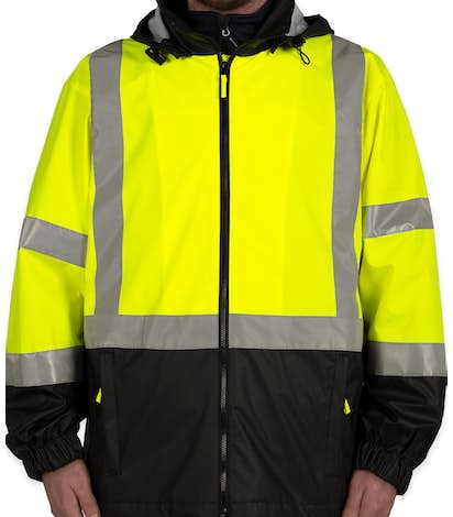 Cornerstone Class 3 Hi-Vis Safety Windbreaker - Safety Yellow/ Black