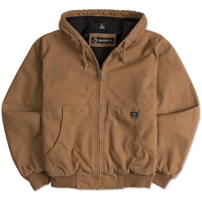651efd06 Custom Dri Duck Cheyenne Hooded Boulder Cloth™ Work Jacket - Design ...