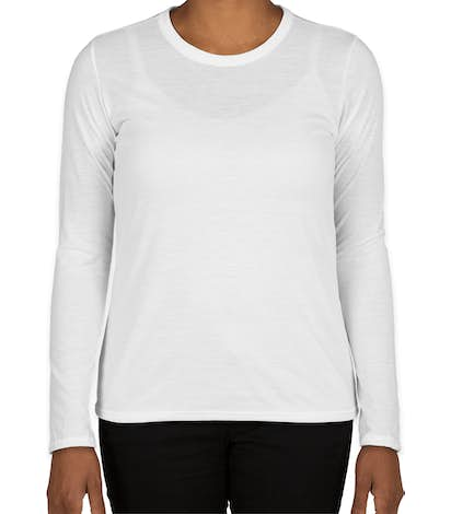 Gildan Women's Soft Jersey Long Sleeve Performance Shirt - White