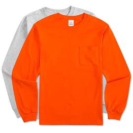 Hanes Workwear Long Sleeve Pocket T-shirt