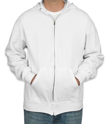 Jerzees Nublend® 50/50 Zip Hoodie - White