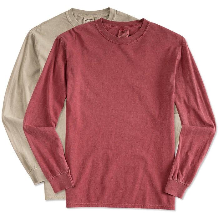 Custom Comfort Colors 100% Cotton Long Sleeve Shirt - Design Long ... 607c8d47ae9