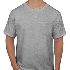 Hanes Workwear Pocket T-shirt - Color: Light Steel