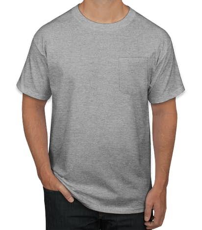 Hanes Workwear Pocket T-shirt - Light Steel