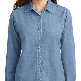 Port & Company Women's Denim Shirt - Color: Faded Blue