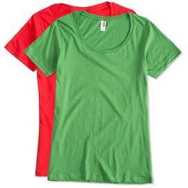 Anvil Women's Lightweight Scoop Neck T-shirt