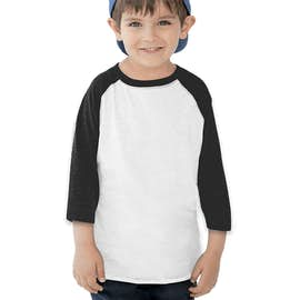 Rabbit Skins Toddler Baseball Raglan - Color: White / Black