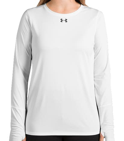 Under Armour Women's Long Sleeve Locker Performance Shirt 2.0 - White