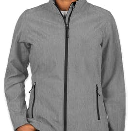 Port Authority Women's Core Fleece Lined Soft Shell Jacket - Color: Pearl Grey Heather