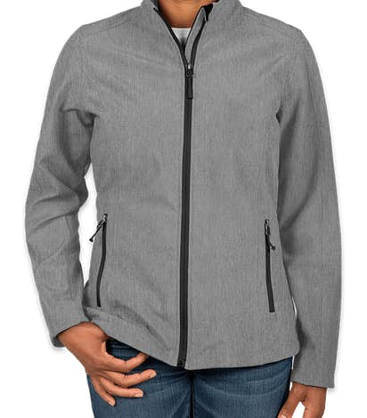 Port Authority Women's Core Fleece Lined Soft Shell Jacket - Pearl Grey Heather