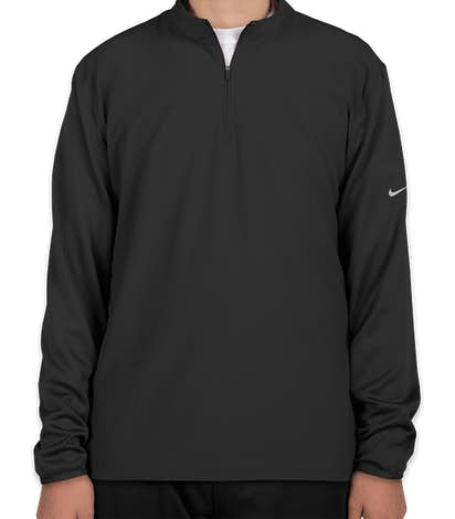 Nike Dri-FIT Lightweight Quarter Zip Pullover - Black / Black