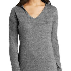 New Era Women's Tri-Blend Long Sleeve Hooded Performance Shirt - Color: Shadow Grey