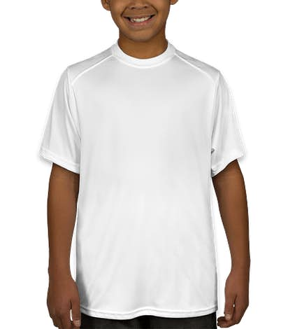 Badger Youth B-Dry Performance Shirt - White