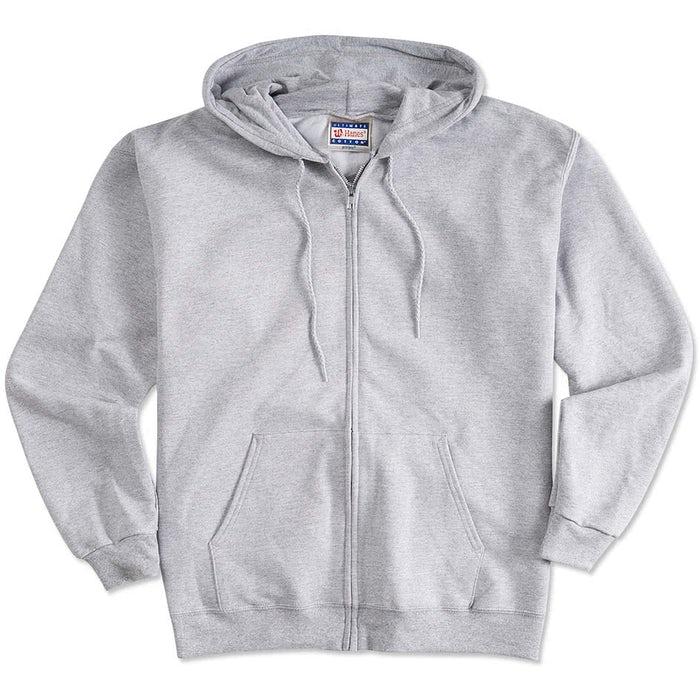 0bd9f64788c Design Custom Printed Hanes Zip Front Hoodies Online at CustomInk