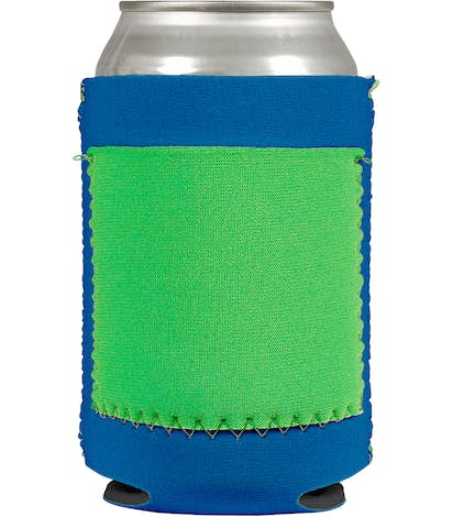 Neoprene Can Cooler with Pocket - Royal Blue / Lime / Neon Green