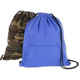 Port & Company Sweatshirt Drawstring Bag