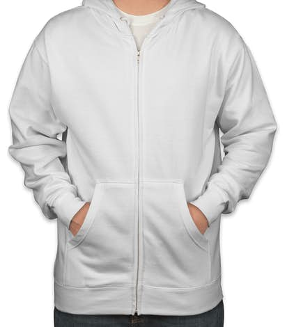 Independent Trading Zip Hoodie - White