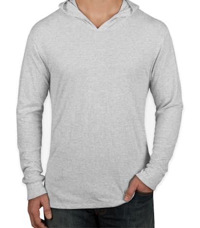 Next Level Tri-Blend Hooded Long Sleeve T-shirt - Heather White