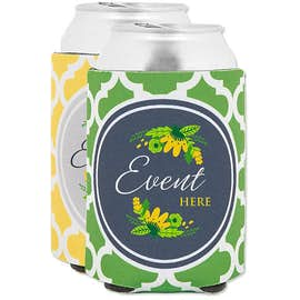 Full Color Moroccan Tile Foldable Can Cooler