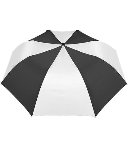 """Vitronic Multi-Tone Auto Open Compact 44"""" Umbrella - Black / White"""