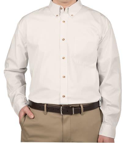 Featherlite Stain Resistant Twill Shirt - Arctic White / Stone
