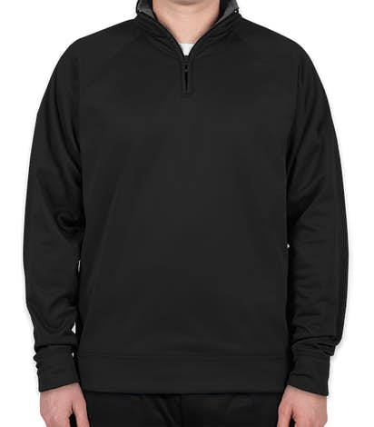 Jerzees Quarter Zip Performance Pullover - Black