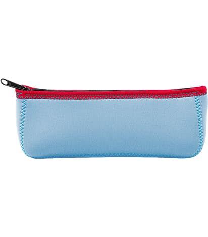 Full Color Canoe Pencil Case - Sky Blue / Sky Blue / Red / Teal