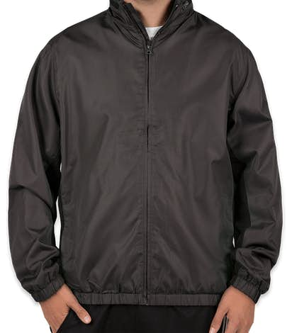 Port Authority Core Colorblock Full Zip Jacket - Battleship Grey / Black