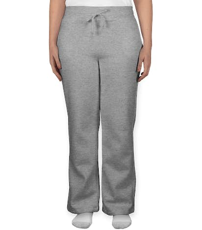 Gildan Women's Open Bottom Sweatpants - Sport Grey