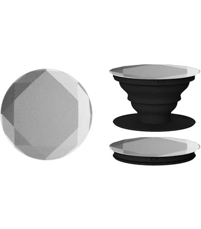 Laser Engraved Diamond Aluminum PopSocket® - Space Gray
