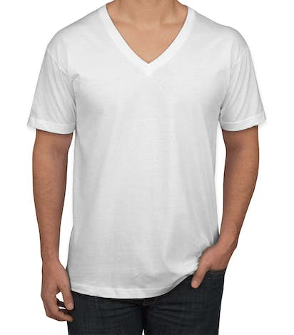 American Apparel Jersey V-Neck T-shirt - White