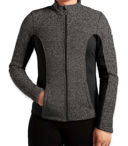 Spyder Women's Constant Sweater Fleece Jacket - Black Heather / Black