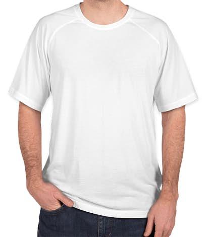 Sport-Tek Tri-Blend Raglan Performance Shirt - White