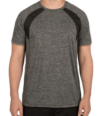 Rawlings Heather Colorblock Performance Shirt - Heather Charcoal