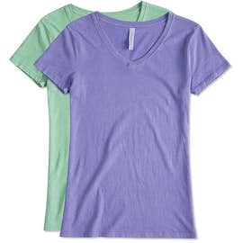 Canada - Threadfast Women's Slim Fit Lightweight V-Neck Pigment Dyed T-shirt