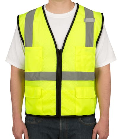 ML Kishigo Class 2 Safety 6 Pocket Mesh Vest - Lime