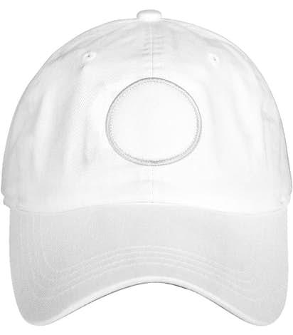 Circle Printed Patch Hat - Baseball - True White