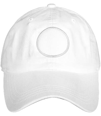 Ahead Circle Patch Baseball Hat - True White