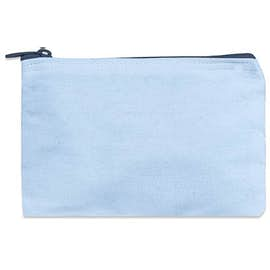 Small Colored Canvas Pouch with Colored Zipper