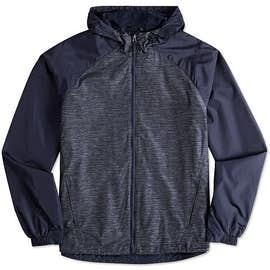 Sport-Tek Heather Raglan Hooded Full Zip Jacket