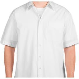 Port Authority Short Sleeve Easy Care Shirt - Color: White / Light Stone