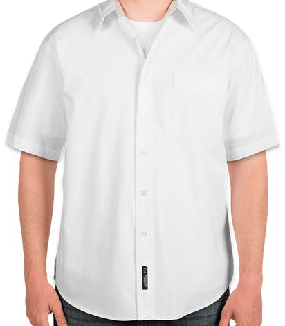 Port Authority Short Sleeve Easy Care Shirt - White / Light Stone