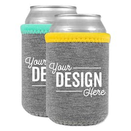 Heathered Jersey Neoprene Can Cooler