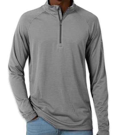 Under Armour Tech Stripe Quarter Zip Performance Shirt - Graphite
