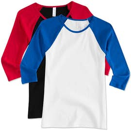 Bella + Canvas Juniors Raglan Crew