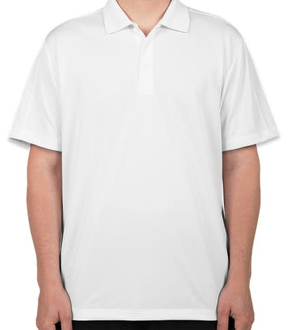 Port Authority Diamond Jacquard Performance Polo - White