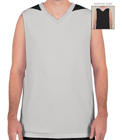 Teamwork Turnaround Reversible Basketball Jersey - Silver / Black